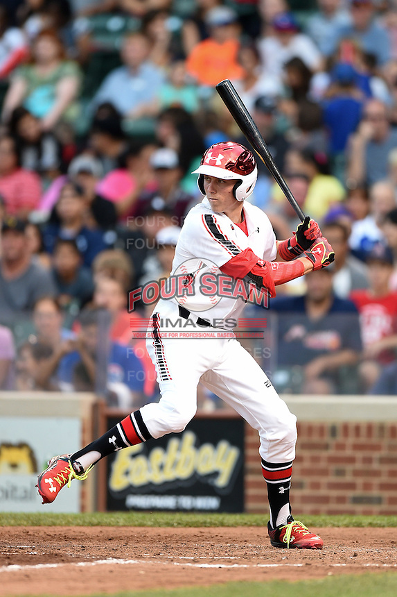 Kody Clemens (2) of Memorial High School in Houston, Texas during the Under Armour All-American Game on August 16, 2014 at Wrigley Field in Chicago, Illinois.  (Mike Janes/Four Seam Images)