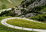 The peloton descending during Stage 11 of the 2018 Tour de France running 108.5km from Albertville to La Rosiere Espace San Bernardo, France. 18th July 2018. <br /> Picture: ASO/Alex Broadway | Cyclefile<br /> All photos usage must carry mandatory copyright credit (&copy; Cyclefile | ASO/Alex Broadway)