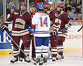 Tim Filangieri, Danny O'Brien, Benn Ferreiro, Cory Schneider, Joe Rooney - The Boston College Eagles defeated the University of Massachusetts-Lowell River Hawks 4-3 in overtime on Saturday, January 28, 2006, at the Paul E. Tsongas Arena in Lowell, Massachusetts.