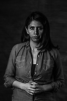 B&Aacute;RBARA ITALIA M&Eacute;NDEZ MORENO, 37, of the Mujeres de Atenco stands for a portrait on July 15, 2016 in , Mexico City,  Mexico.  <br /> I feel very strengthened with the other women<br /> Italia and a few of the women became very active and outspoken decrying the injustices and crimes that were committed to them. <br /> I realized that as I talked about my experiences in universities, forums, press conferences, it was my way of dealing with the pain. <br /> We sometimes feel so frustrated specially so because the government has gone out of its way to try to stop us, to distract us, with palliatives, or not very serious investigations, without ever going to the root of the issue of what really happened, and this is infuriating, but as frustrating as it is, it also gives us reasons and motivations to keep un fighting. <br /> <br /> -It is a whirlwind of emotions, to remember all of this, ten years later&hellip;But to recognize this pain and this nausea it is an engine to strengthen ourselves and convince ourselves to speak out collectively, since this is not a one person&rsquo;s fight. <br /> <br /> It  is like running a 20 k marathon and I feel we are at 15 km, close to the finish line. <br /> <br /> -My life project was ruined, after what happened I had no short or long term plans, I just figured out how to get my life back together, to regain trust and hope that this world is not a horrible place, but it takes a long time.<br /> <br /> -With the help and support of the women, solidarity, I went from counting the years  feeling a vulnerable victim, to reminiscing an experience but from a perspective of resistance and dignity of the victims. <br /> <br /> Italia was with her boyfriend back then when Atenco happened, he was also arrested, and so the process of healing she went through it with him as a couple. They are still together til this day. <br /> <br /> Italia says something she never got over is the dream and hope of becoming a mother, as she was ru