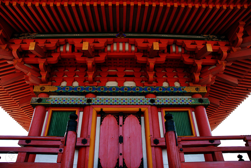 Detail of the pagoda at the Kiyomizu Temple in Kyoto.