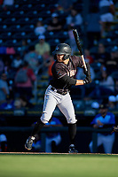 Jupiter Hammerheads Riley Mahan (2) at bat during a Florida State League game against the Bradenton Marauders on April 20, 2019 at LECOM Park in Bradenton, Florida.  Bradenton defeated Jupiter 3-2.  (Mike Janes/Four Seam Images)
