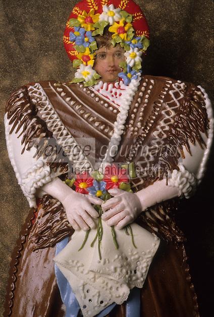 Europe/Hongrie/Tokay: Pain d'épice en forme de costume traditionnel
