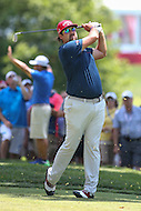 Bethesda, MD - June 26, 2016:  Andres Gonzales (USA) looks at his tee shot during Final Round of professional play at the Quicken Loans National Tournament at the Congressional Country Club in Bethesda, MD, June 26, 2016.  (Photo by Elliott Brown/Media Images International)
