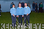 TEE OFF: Merilyn O'Connor (Lady Captain) and Mike Williams (Captain) with fellow golfers watching them tee off on Sunday at Castlegregory Golf Club.   Copyright Kerry's Eye 2008