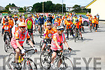 At the start of the CYCLE AGAINST SUICIDE: The Tralee SpinOff at Austin Stacks GAA Club on Saturday