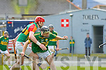 Colin Harris Kerry and Eddie Byrne Carlow in action during their Allianz Hurling league clash in Fitzgerald Stadium on Sunday