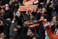 Blackpool fans applaud their team at the final whistle <br /> <br /> Photographer Kevin Barnes/CameraSport<br /> <br /> The EFL Sky Bet League One - Blackpool v Southend United - Saturday 9th March 2019 - Bloomfield Road - Blackpool<br /> <br /> World Copyright © 2019 CameraSport. All rights reserved. 43 Linden Ave. Countesthorpe. Leicester. England. LE8 5PG - Tel: +44 (0) 116 277 4147 - admin@camerasport.com - www.camerasport.com