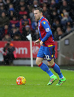 Jordon Mutch of Crystal Palace during the Barclays Premier League match between Swansea City and Crystal Palace at the Liberty Stadium, Swansea on February 06 2016