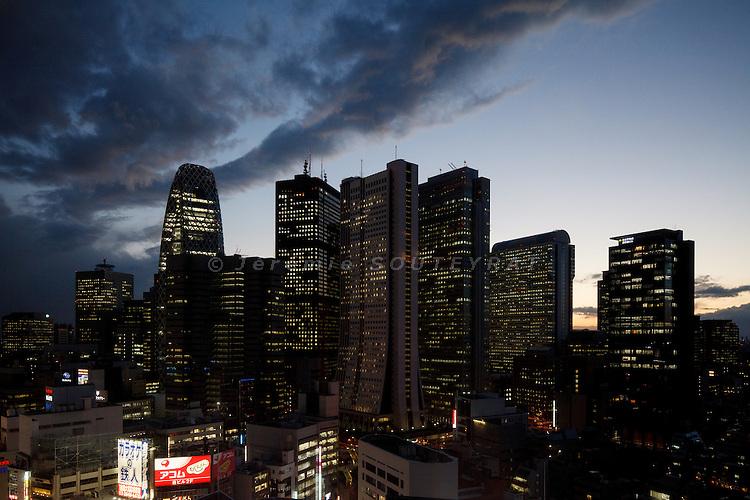 Tokyo, March 2011 - Shinjuku skyline by night.