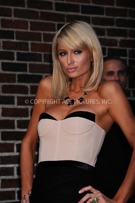 WWW.ACEPIXS.COM................June 1 2009, New York City....Paris Hilton made an appearance at the 'Late Show with David Letterman' at the Ed Sullivan Theatre on June 1 2009 in New York City.....Please byline: AJ SOKALNER - ACEPIXS.COM..  ***  ..Ace Pictures, Inc:  ..tel: (646) 769 0430..e-mail: info@acepixs.com..web: http://www.acepixs.com