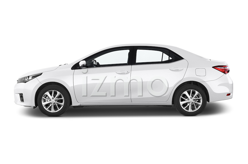 Car Driver side profile view of a 2014 Toyota Corolla Comfort 4 Door Sedan 2WD Side View