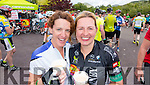 Fiona Clifford, Currow and Jillian Curran, Killarney in Kenmare at the Ring of Kerry cycle on Saturday.