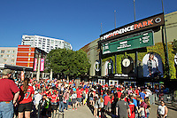 Portland, OR - Saturday July 02, 2016: Fans during a regular season National Women's Soccer League (NWSL) match between the Portland Thorns FC and Sky Blue FC at Providence Park.