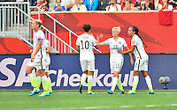 Winnipeg, Manitoba, Canada - June 8, 2015: The USWNT play Australia in first round group play at the 2015 Women's World Cup at Winnipeg Stadium.