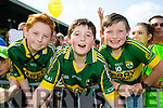 David Fitzgerald, Cathal Daly and Eoin Daly at Kerry GAA family day at Fitzgerald Stadium  on Sunday
