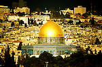 Israel: Old Jerusalem, sunrise, Dome of the Rock. photo: israel101 .Photo copyright Lee Foster, www.fostertravel.com , 510/549-2202, lee@fostertravel.com