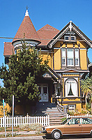 Alameda CA: Eastlake-Queen Anne House, c. 1890. San Antonio Ave. Photo '76.