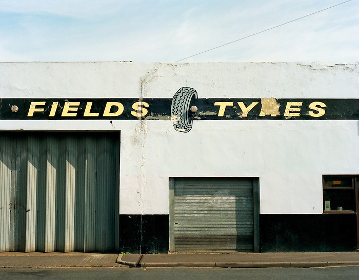 A closed tyre shop in Brighton.