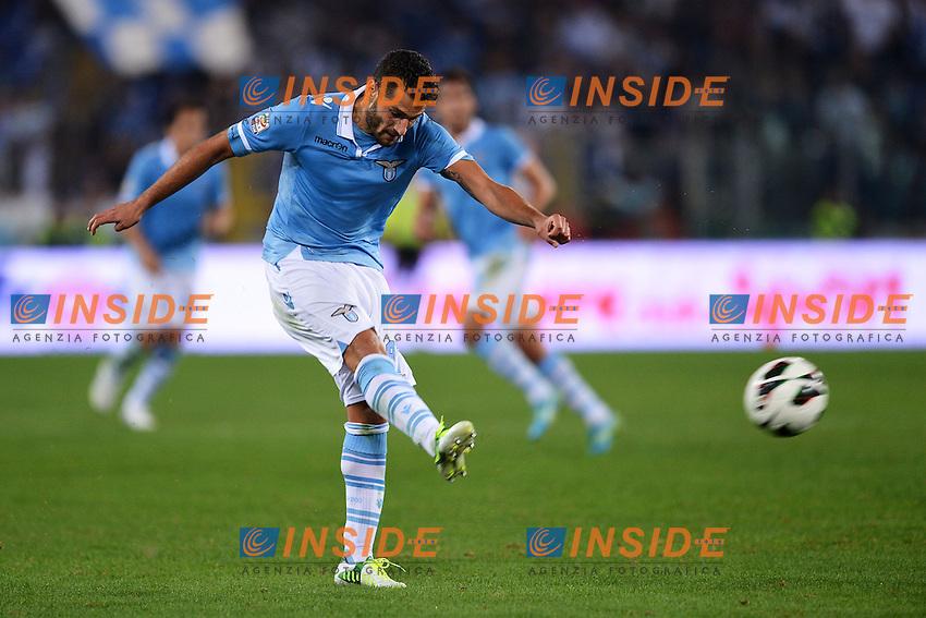 """Gol di Antonio Candreva Lazio 2-0.Goal celebration.Roma 20/10/2012 Stadio """"Olimpico"""".Football Calcio 2012/2013 Serie A.Lazio Vs Milan.Foto Andrea Staccioli Insidefoto"""
