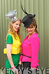 Sarah Tobin and Karyn Moriarty Pictured at Listowel Races on Friday.