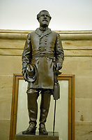 Statue of Confederate General Robert E. Lee that is part of the National Statuary Hall Collection in the United States Capitol in Washington, DC on Thursday, August 31, 2017.   The statue of General Lee was given to the Collection by the State of Virginia in 1909. The collection is comprised of 100 statues, two from each state.  Of those, twelve depict Confederate leaders.  The statues have become controversial and there have been calls for their removal from the US Capitol.<br /> Credit: Ron Sachs / CNP /MediaPunch