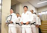 (L-R) Masahiko Kimura,  Kosei Inoue (JPN), <br /> JULY 27, 2016 - Judo : <br /> Japan national team Send-off Party for Rio Olympic Games 2016 <br /> &amp; Paralympic Games <br /> at Kodokan, Tokyo, Japan. <br /> (Photo by AFLO SPORT)