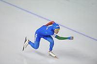 SCHAATSEN: Calgary: Essent ISU World Sprint Speedskating Championships, 28-01-2012, 1000m Heren, Mirko G. Nenzi (ITA), ©foto Martin de Jong
