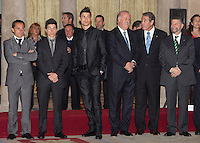 Cristiano Ronaldo, Sergi Barjuan, Maverick Vinales and Vicente del Bosque attend the National Sports Awards ceremony at El Pardo Palace. December 05, 2012. (ALTERPHOTOS/Caro Marin) NortePhoto