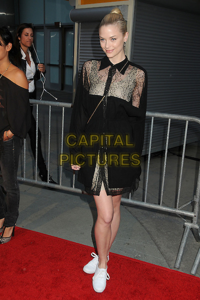 "JAIME KING .""Skateland"" Los Angeles Premiere held at Arclight Cinemas, Hollywood, California USA, 12th May 2011..full length  dress long sleeve white trainers cross body bag  black shirt  lace sheer see thru shirt through collar .CAP/ADM/BP.©Byron Purvis/AdMedia/Capital Pictures."