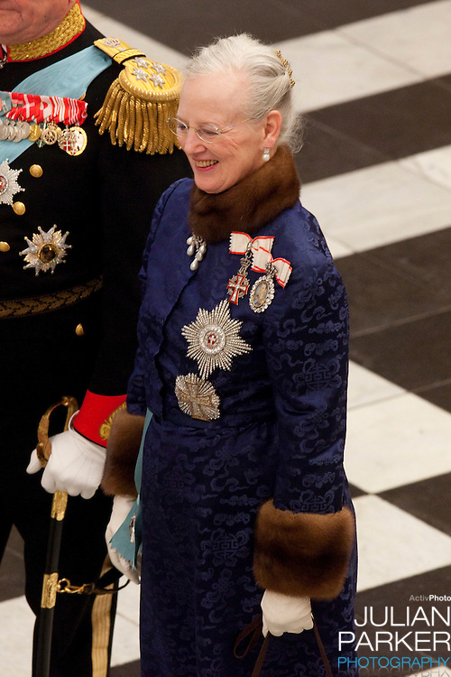 Queen Margrethe, of Denmark attends the New Year Court for diplomats at Christiansborg Palace in Copenhagen, Denmark.