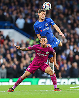 Andreas Christensen of Chelsea gets above Gabriel Jesus of Manchester City <br /> Calcio Chelsea - Manchester City Premier League <br /> Foto Phcimages/Panoramic/insidefoto