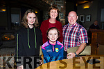 Aoife, Aisling, Brenda and Padraig O'Connell enjoying the evening out in the Meadowlands Hotel on Saturday night.