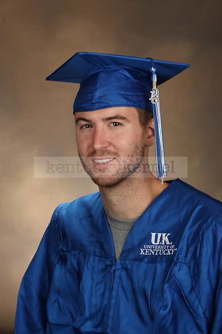 Wilson, Eric graduation portrait taken at the fall Grad Salute at the University of Kentucky in Lexington, Ky., on 10/1/13.
