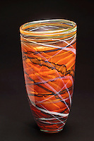 Hand crafted art glass vase