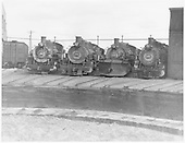 D&amp;RGW #488, #495, #487 &amp; #491 stored without tenders on the Alamosa roundhouse leads.<br /> D&amp;RGW  Alamosa, CO  Taken by Payne, Andy M. - 7/3/1969