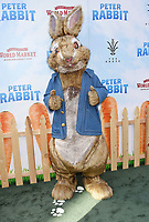 LOS ANGELES, CA - FEBRUARY 03:  Peter Rabbit arrives at the Premiere Of Columbia Pictures' 'Peter Rabbit' at The Grove on February 3, 2018 in Los Angeles, California.<br /> CAP/ROT/TM<br /> &copy;TM/ROT/Capital Pictures