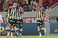 RIO DE JANEIRO; RJ; 28 DE JULHO 2013 -  Rafael Marques do Botafogo comemora o gol durante partida contra o Flamengo jogo pela nona rodada do Campeonato Brasileiro no Estádio do Maracanã neste domingo, 28. (Foto. Néstor J. Beremblum / Brazil Photo Press).