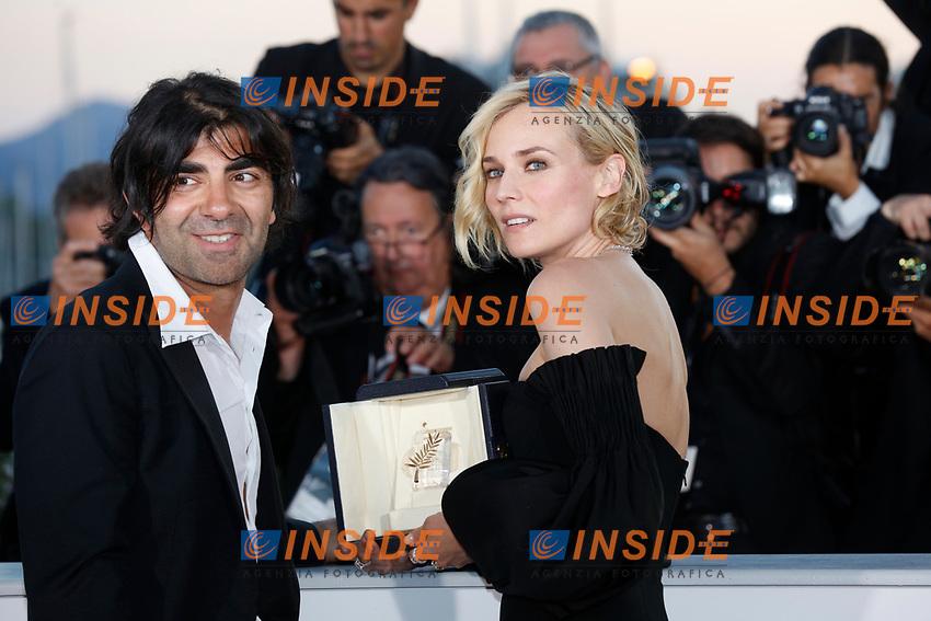 Fatih Akin, Diane Kruger<br /> 28-05-2017 Cannes <br /> 70ma edizione Festival del Cinema <br /> Awards night . Serata Finale <br /> Foto Panoramic/Insidefoto