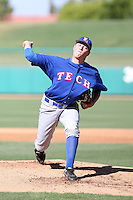 Trevor Petersen, Louisana Tech Bulldogs, playing against Hawaii Rainbows on day one of the Western Athletic Conference tournament at Hohokam Park, Mesa, AZ - 05/26/2010. Hawaii defeated Louisiana Tech, 8-7, in 10 innings..Photo by:  Bill Mitchell/Four Seam Images.