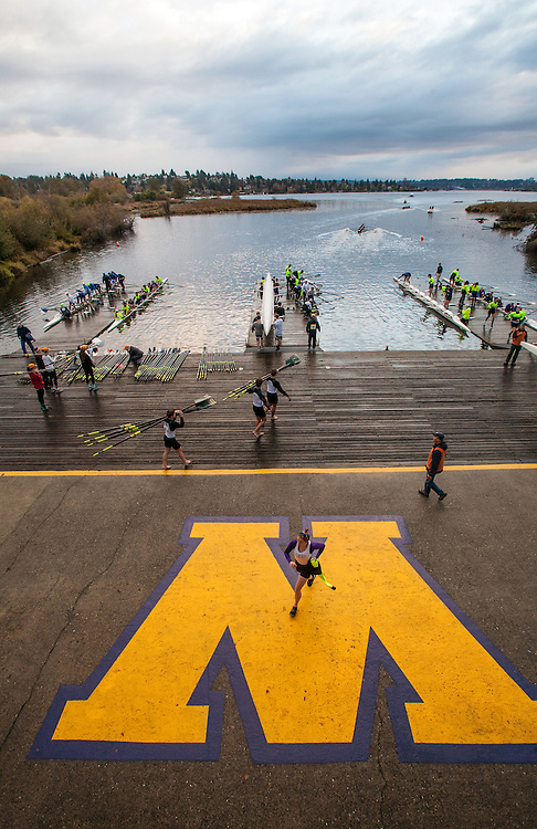 Conibear Shellhouse, crew race, Head of the Lake Regatta, November 5 2016, organized by the Lake Washington Rowing Club and the University of Washington, Seattle,  Washington State, Pacific Northwest, USA,