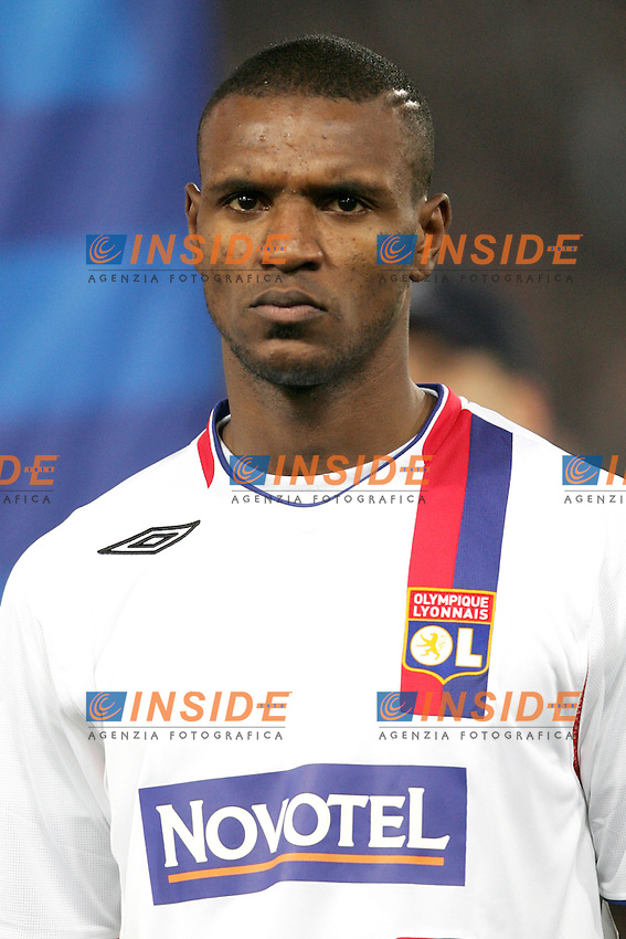 Eric Abidal (Olympique Lyonnais)<br /> Champions League 2006-2007<br /> 21 Feb 2007 (First knockout round)<br /> Roma - Olympique Lyonnaise (0-0)<br /> &quot;Olimpico&quot; Stadium - Roma - Italy<br /> Photographer: Andrea Staccioli Inside Roma Olympique Lyon