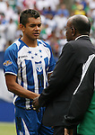 10 June 2007: Honduras' Amado Guevara (20) and Jack Warner, president of CONCACAF. The Honduras Men's National Team defeated the National Team of Mexico 2-1 at Giants Stadium in East Rutherford, New Jersey in a first round game in the 2007 CONCACAF Gold Cup.