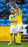 Kilmarnock v St Johnstone..24.11.12      SPL.Murray Davidson celebrates his goal with Callum Davidson.Picture by Graeme Hart..Copyright Perthshire Picture Agency.Tel: 01738 623350  Mobile: 07990 594431