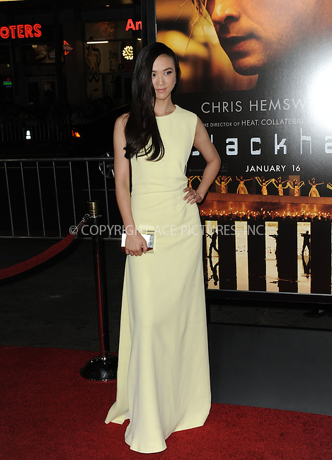 WWW.ACEPIXS.COM<br /> <br /> Januarey 8 2015, LA<br /> <br /> Tang Wei attending the 'Black Hat' premiere at the TCL Chinese Theatre IMAX on January 8, 2015 in Hollywood, California.<br /> <br /> By Line: Peter West/ACE Pictures<br /> <br /> <br /> ACE Pictures, Inc.<br /> tel: 646 769 0430<br /> Email: info@acepixs.com<br /> www.acepixs.com