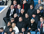Martin Ferguson in the stand scouting some players