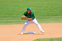 Beloit Snappers second baseman Nate Mondou (10) during a Midwest League game against the Quad Cities River Bandits on June 18, 2017 at Pohlman Field in Beloit, Wisconsin.  Quad Cities defeated Beloit 5-3. (Brad Krause/Krause Sports Photography)