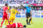 FIFA Referee Ahmed Abu Bakar Al Kaf of Oma (R) gestures during the AFC Asian Cup UAE 2019 Group B match between Australia (AUS) and Jordan (JOR) at Hazza Bin Zayed Stadium on 06 January 2019 in Al Ain, United Arab Emirates. Photo by Marcio Rodrigo Machado / Power Sport Images