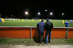 Airbus UK 4 Bangor City 1, 12/01/2007. The Airfield, Welsh Premier League. Spectators watch as lowly Airbus UK (blue) take on Bangor City in a Welsh Premier League match at The Airfield, Broughton. The Wing Makers won by 4 goals to 1, having lead by a solitary goal at the break in this North Wales clash. Photo by Colin McPherson.