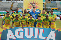 NEIVA - COLOMBIA, 09-06-2015: Atlético Huila y Deportivo Independiente Medellin en partido por la fecha 1 de la Liga Águila II 2018 jugado en el estadio Guillermo Plazas Alcid de la ciudad de Neiva. / Atletico Huila and Deportivo Independiente Medellin in match for the date 1 of the Aguila League II 2018 played at Guillermo Plazas Alcid in Neiva city. VizzorImage / Sergio Reyes / Cont
